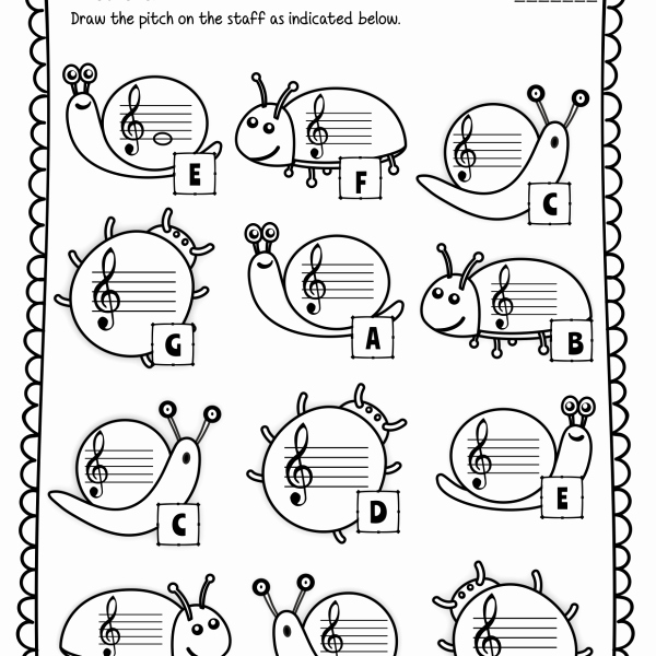 Treble Clef Note Worksheet Beautiful Treble Clef Note Naming Worksheets for Spring Anastasiya