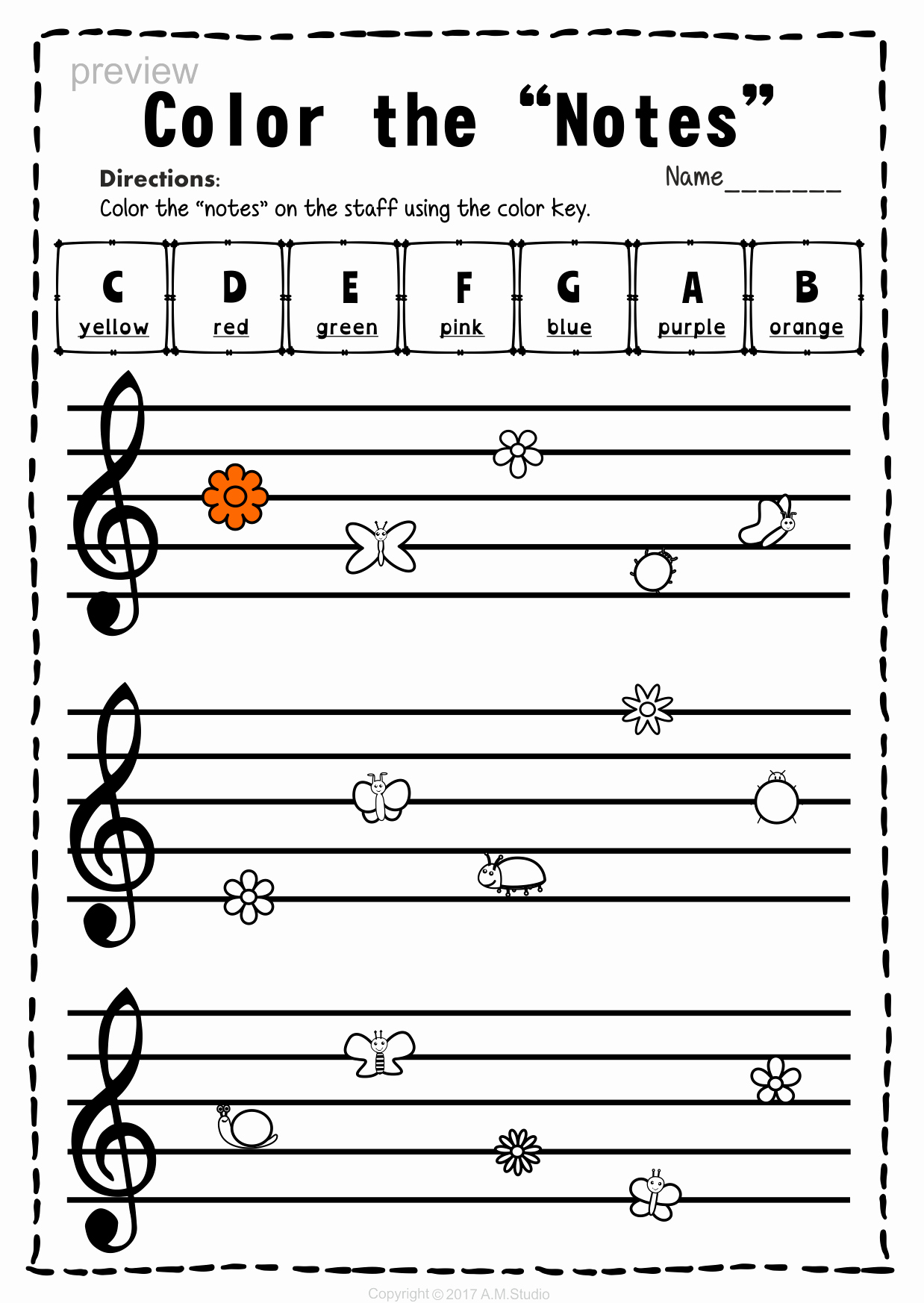 Treble Clef Note Worksheet Elegant Edhero