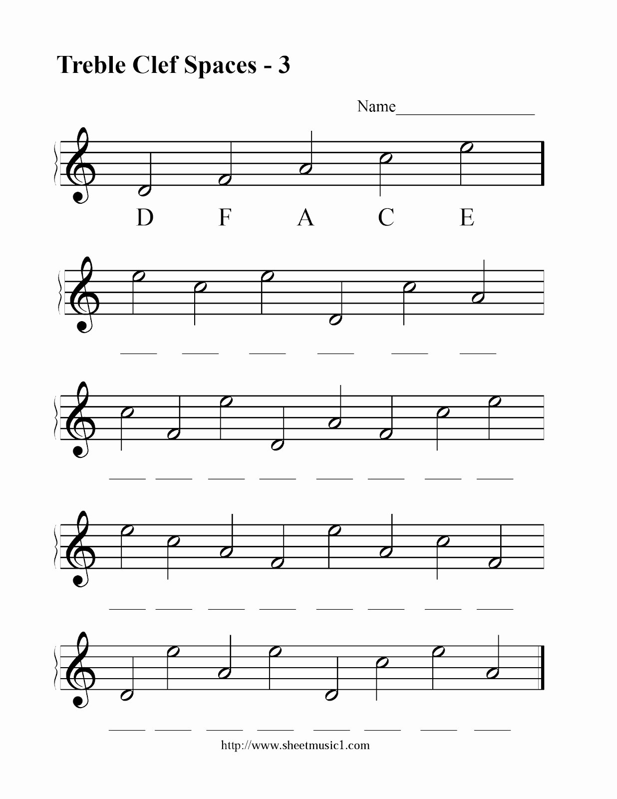 Treble Clef Note Worksheet Elegant Treble Clef Notes Worksheet
