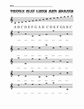 Treble Clef Note Worksheet Inspirational Eight Worksheets On Treble and Bass Clef Lines and Spaces