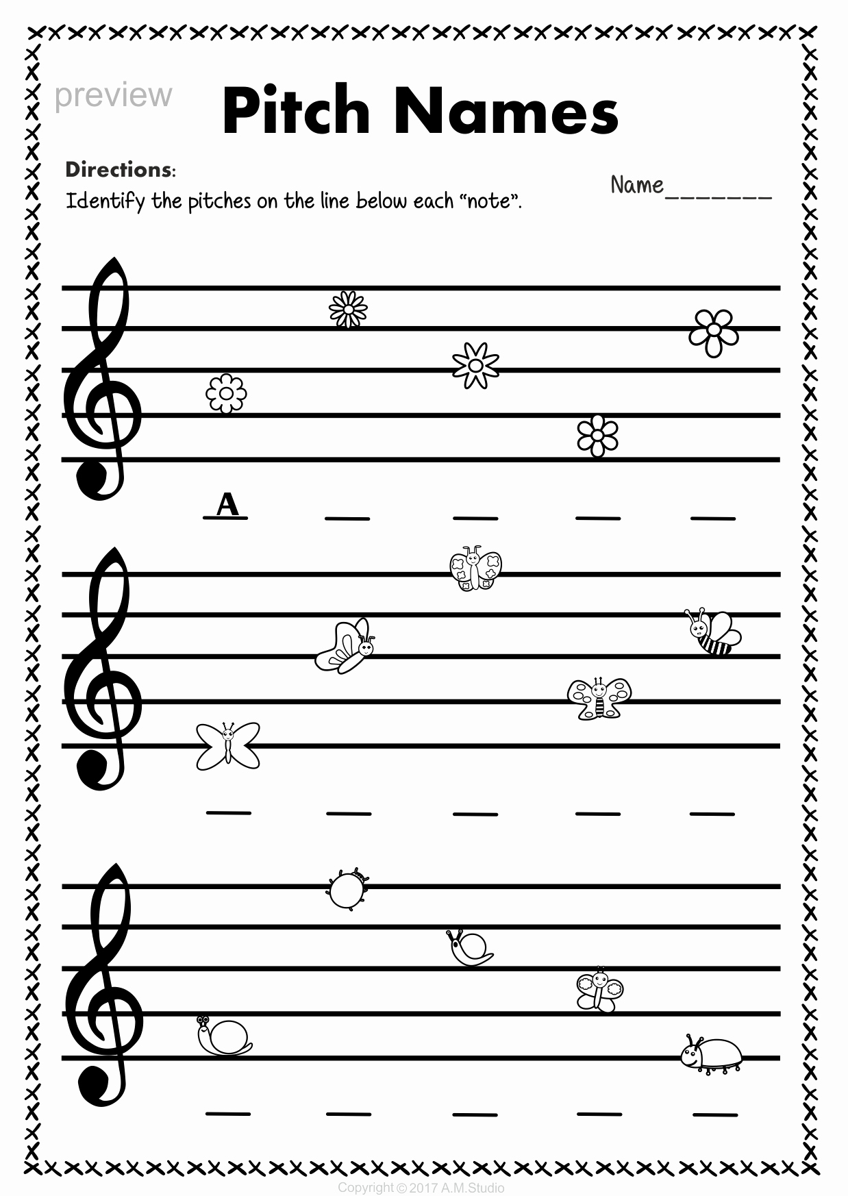 Treble Clef Note Worksheet Inspirational Treble Clef Note Naming Worksheets for Spring5