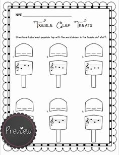 Treble Clef Note Worksheet Unique Intro to Treble Spaces Note Names Kids Worksheet Google