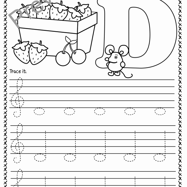 Treble Clef Notes Worksheet Awesome Treble Clef Tracing Music Notes Worksheets for Spring