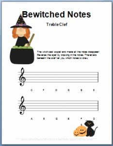 Treble Clef Notes Worksheet Elegant Pinterest • the World's Catalog Of Ideas