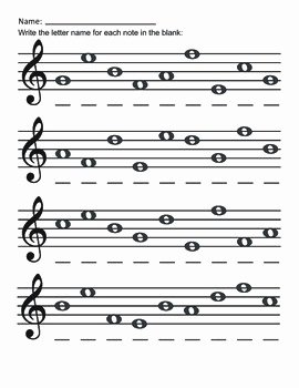 Treble Clef Notes Worksheet Elegant Treble Clef Lines and Spaces Free Worksheets by Music