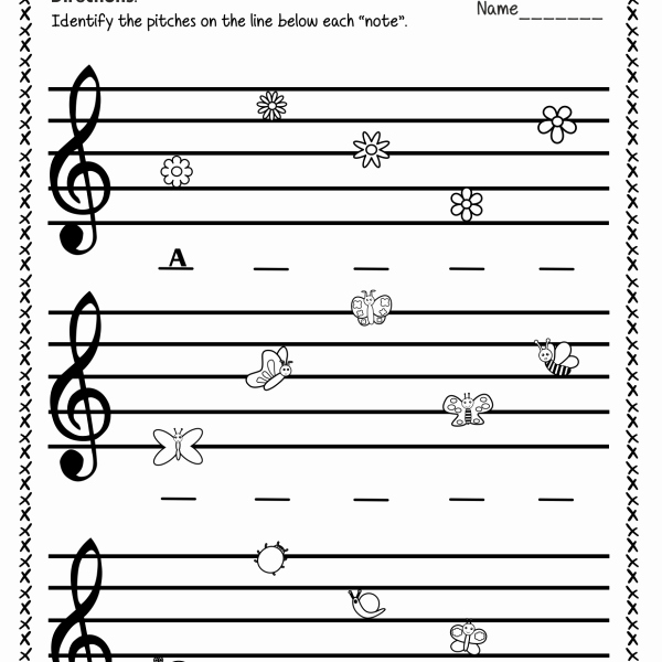Treble Clef Notes Worksheet Fresh Treble Clef Note Naming Worksheets for Spring Anastasiya
