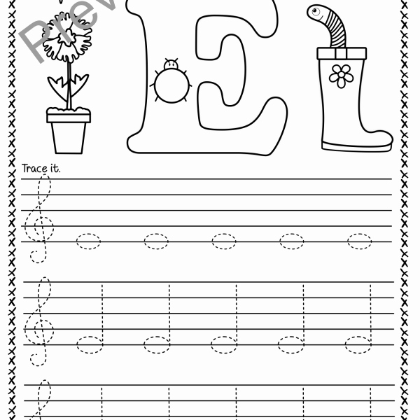 Treble Clef Notes Worksheet Inspirational Treble Clef Tracing Music Notes Worksheets for Spring
