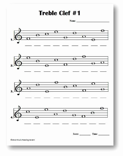 Treble Clef Notes Worksheet Lovely Intro to Treble Spaces Note Names Kids Worksheet Google