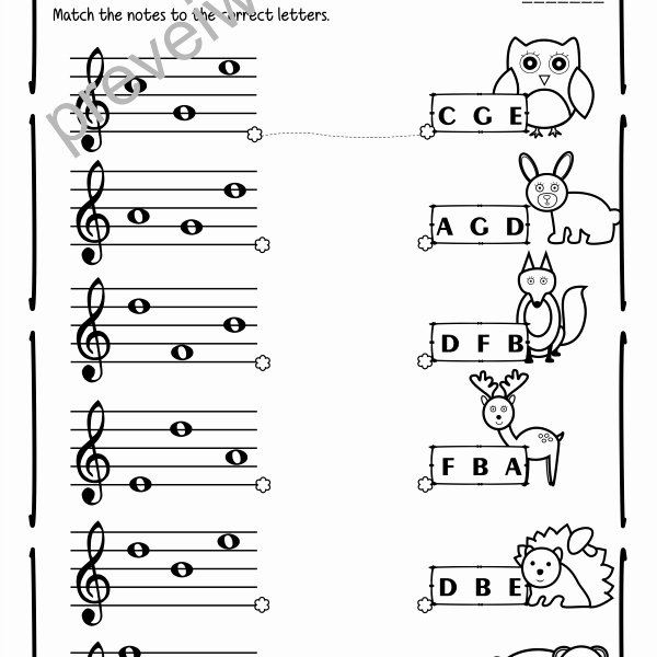 Treble Clef Notes Worksheet Lovely Treble Clef Note Naming Worksheets for Fall Anastasiya