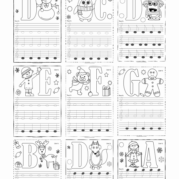 Treble Clef Notes Worksheet Lovely Treble Clef Tracing Music Notes Worksheets for Winter and