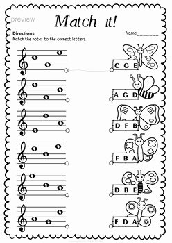 Treble Clef Notes Worksheet Luxury Treble Clef Note Naming Worksheets for Spring by