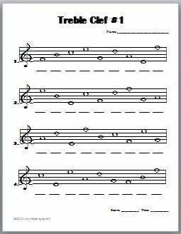 Treble Clef Notes Worksheet Luxury Treble Clef Notes Worksheet Bing Images