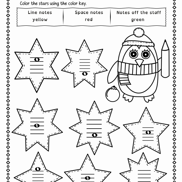 Treble Clef Notes Worksheet New Christmas Treble Clef Note Reading Worksheets Anastasiya