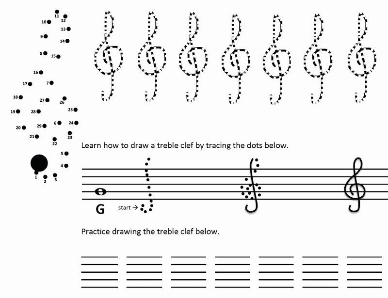 Treble Clef Notes Worksheet Unique Introducing the Treble Clef