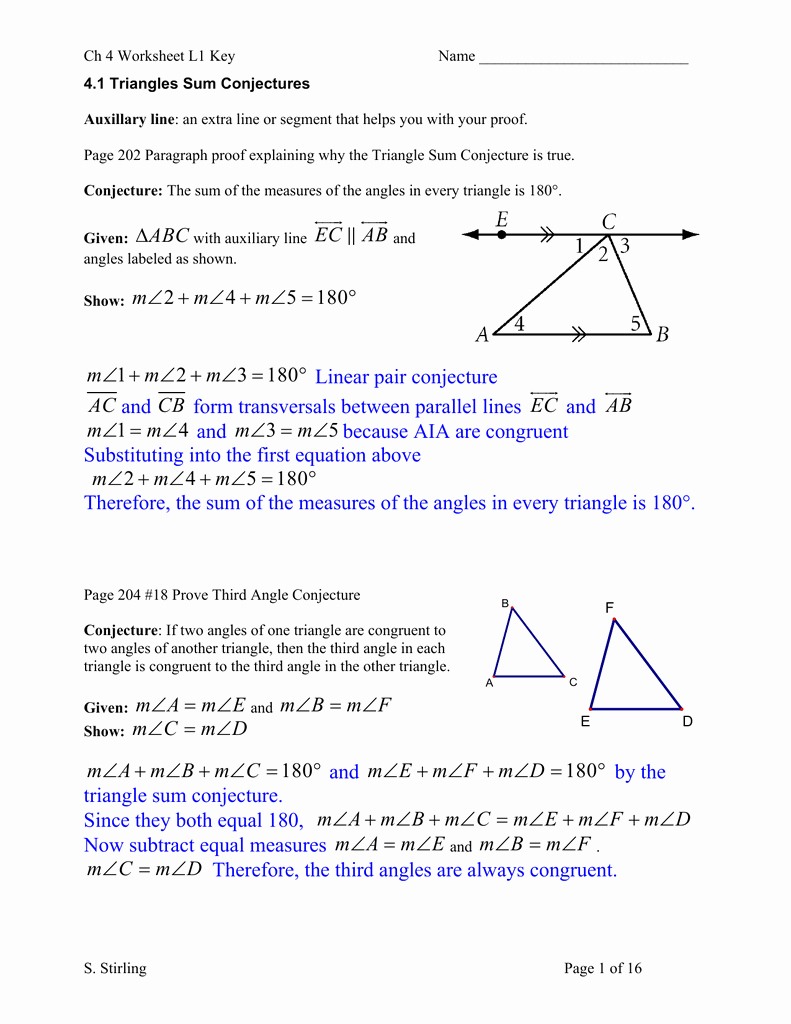Triangle Angle Sum Worksheet Answers New Worksheet Sum Angles In A Triangle Worksheet Grass
