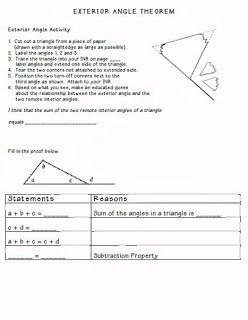 Triangle Angle Sum Worksheet Answers Unique Math by tori Triangles Unit Interior Angle Sum and