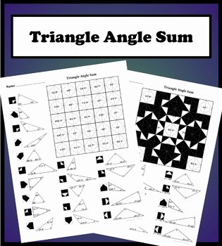 Triangle Angle Sum Worksheet Answers Unique Triangle Angle Sum theorem Color Worksheet by Aric Thomas