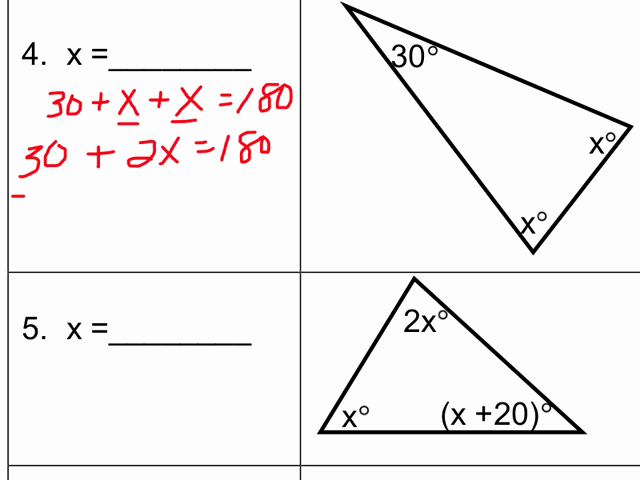 Triangle Angle Sum Worksheet Awesome Triangle Sum theorem Worksheet Algebra Breadandhearth