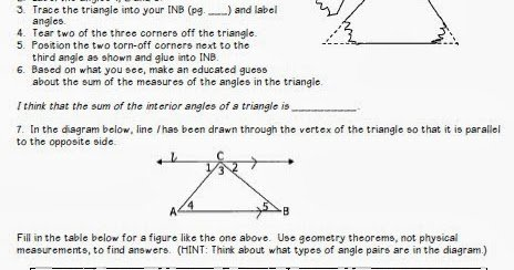 Triangle Angle Sum Worksheet Beautiful Math by tori Triangles Unit Interior Angle Sum and
