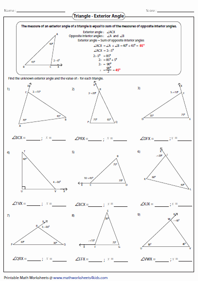 Triangle Angle Sum Worksheet Beautiful Triangles Worksheets