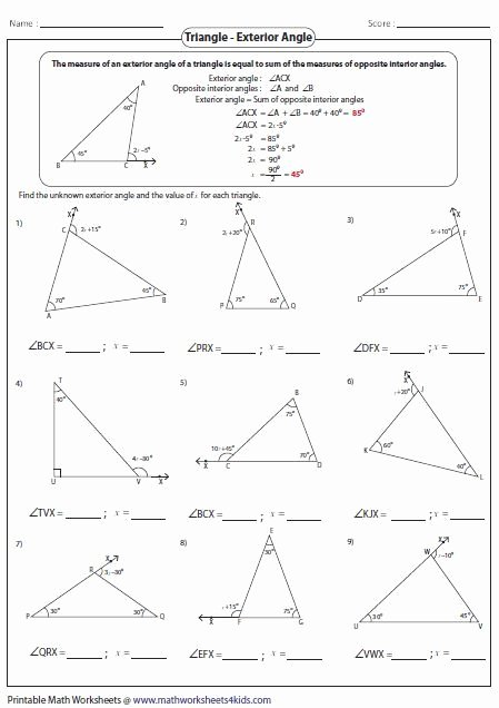Triangle Angle Sum Worksheet Fresh Best 25 Triangle Inequality Ideas On Pinterest