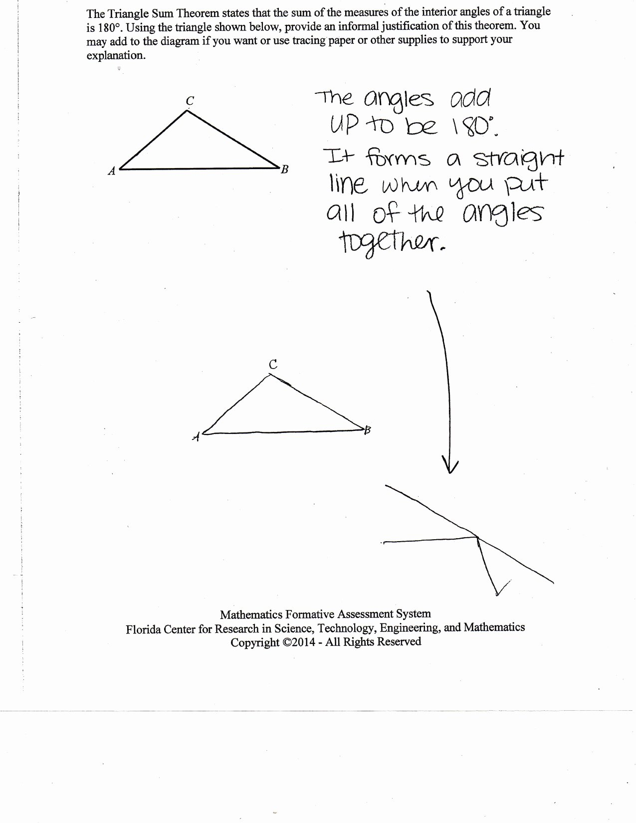 Triangle Angle Sum Worksheet Lovely Justifying the Triangle Sum theorem