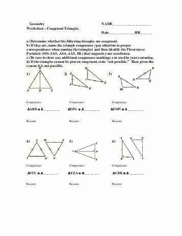 Triangle Congruence Proofs Worksheet Best Of Triangle Congruence Proofs Worksheet