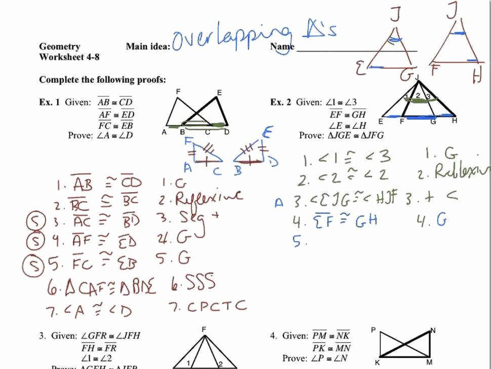 Triangle Congruence Proofs Worksheet Fresh Congruent Overlapping Triangles Worksheet Breadandhearth