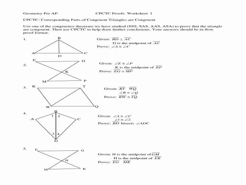 Triangle Congruence Proofs Worksheet Inspirational Triangle Congruence Proofs Worksheet