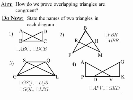 Triangle Congruence Proofs Worksheet Luxury Congruent Overlapping Triangles Worksheet Breadandhearth