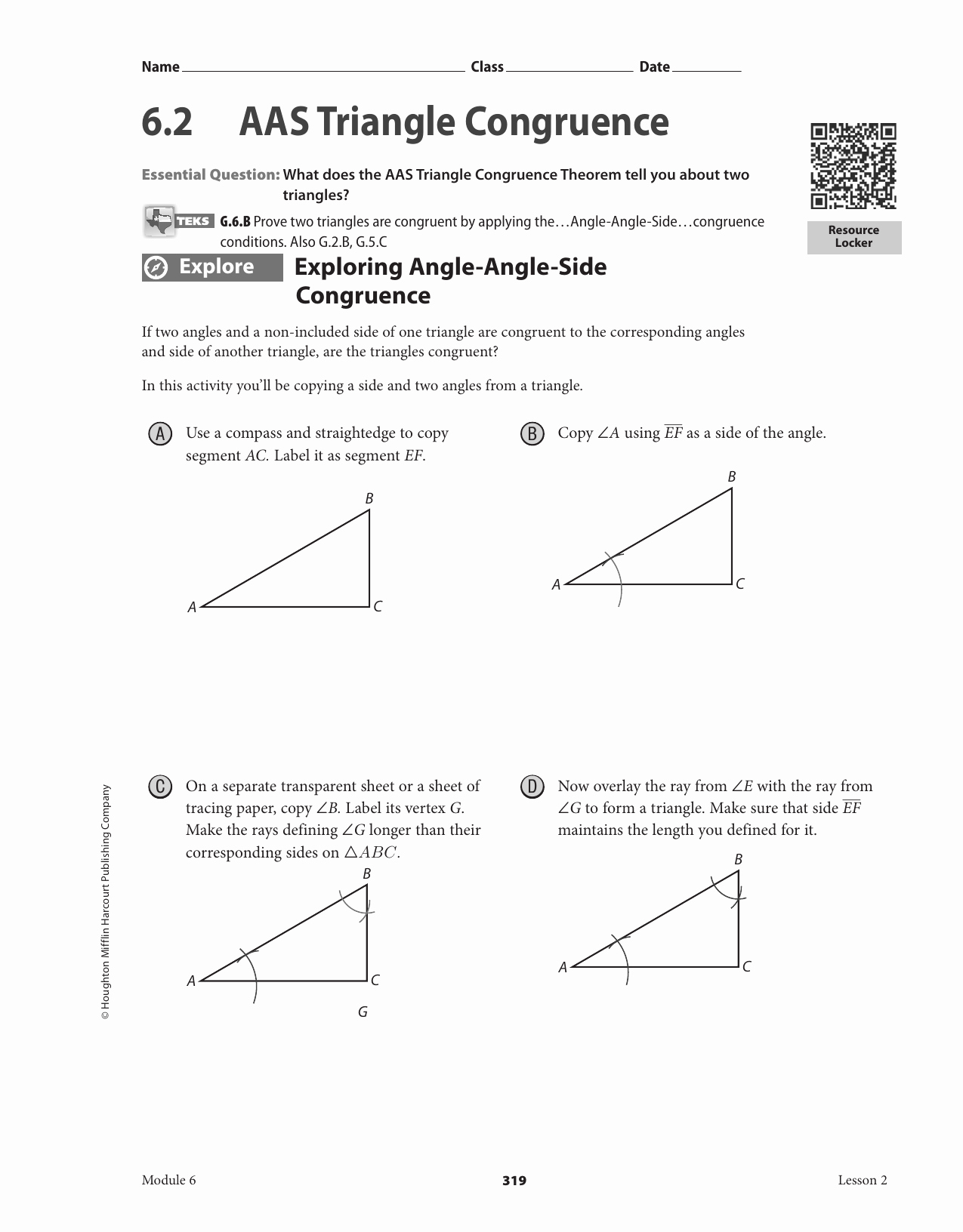 Triangle Congruence Worksheet Answer Key Beautiful Triangle Congruence Worksheet Answer Key