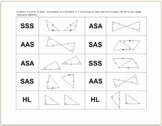 Triangle Congruence Worksheet Answer Key Best Of