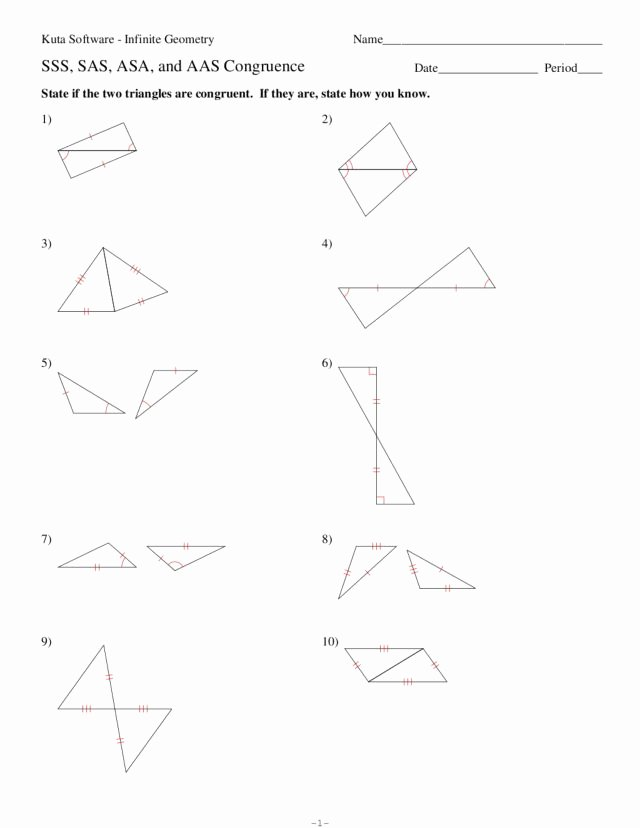 Triangle Congruence Worksheet Answers Awesome Sss Sas asa and Aas Congruence Worksheet for 8th 10th