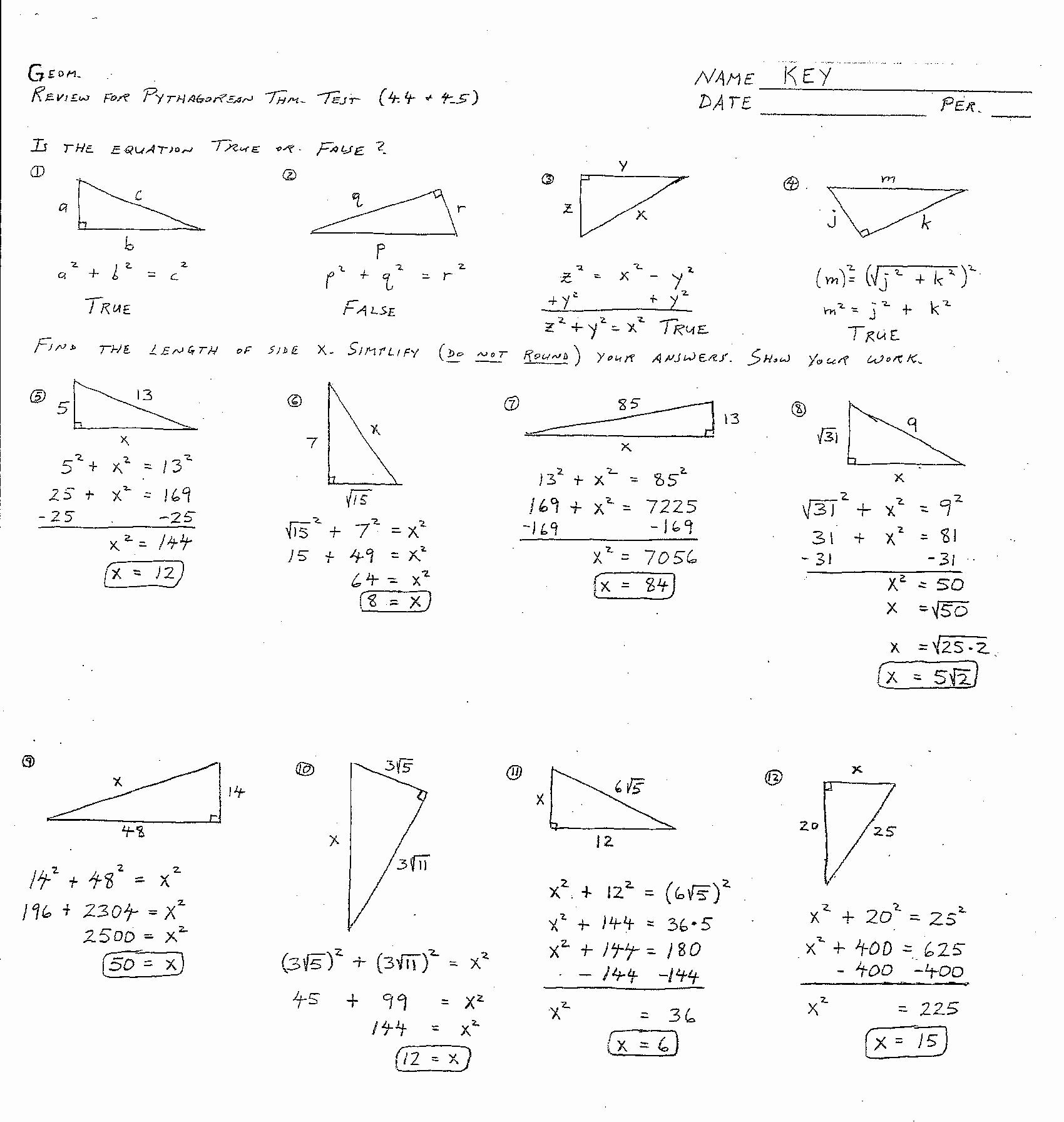 Triangle Congruence Worksheet Answers Beautiful 6 Best Of Congruent Triangles Worksheet with Answer