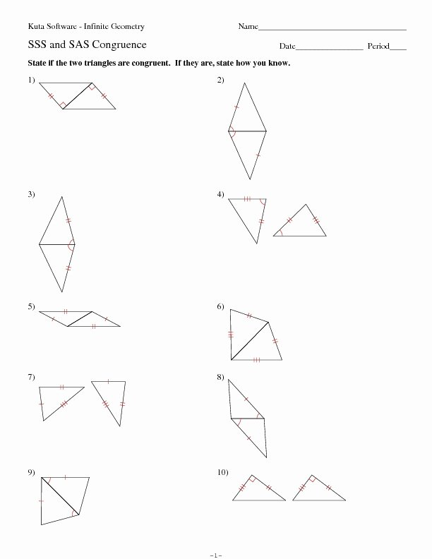 Triangle Congruence Worksheet Answers Elegant Eighteen Sss or Sas Triangle Congruence Problems Worksheet