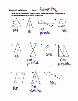 Triangle Congruence Worksheet Answers Lovely Geometry Congruent Triangles Practice Worksheet Answer
