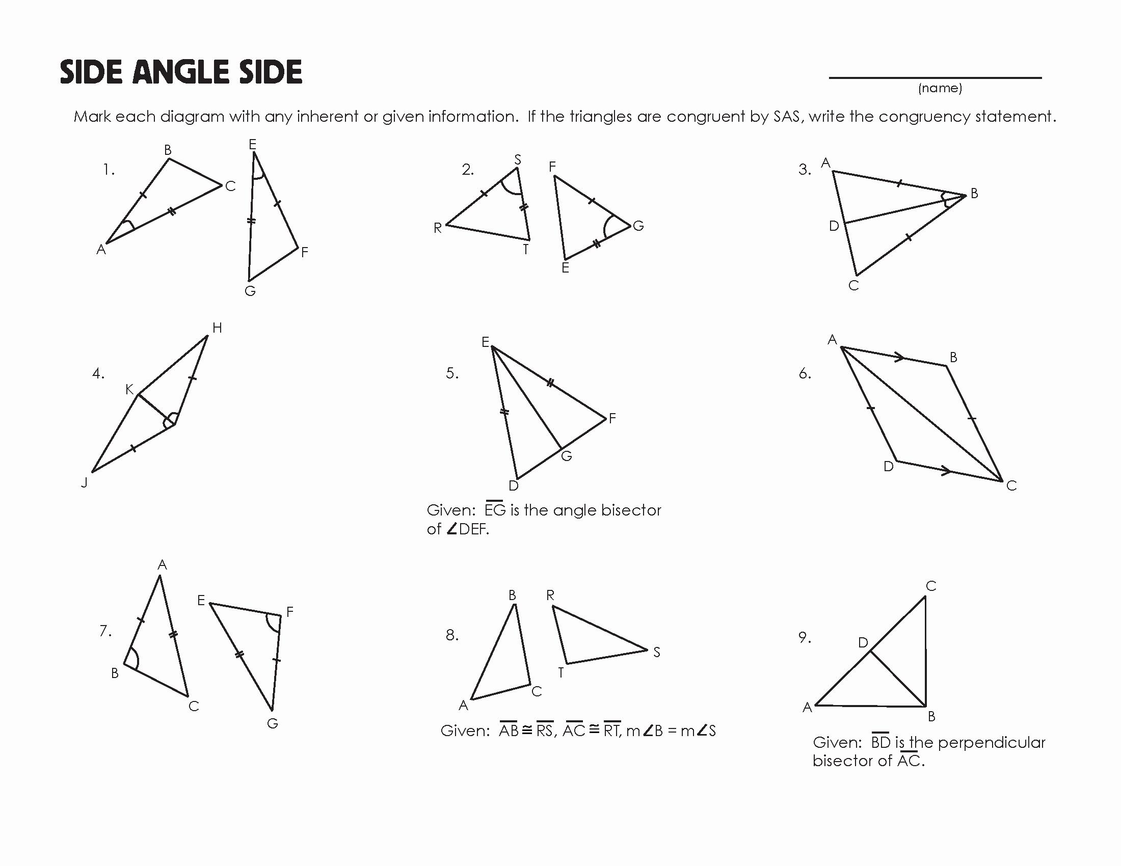 Triangle Congruence Worksheet Pdf Elegant Congruent Triangles Worksheet