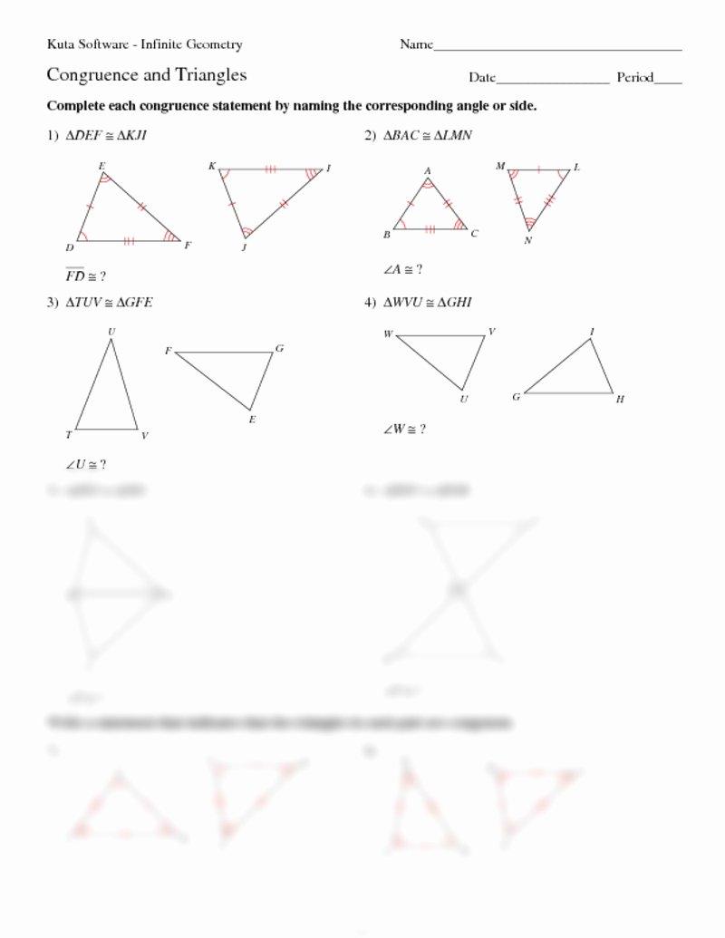 Triangle Congruence Worksheet Pdf Elegant Worksheet Triangle Congruence Worksheets Grass Fedjp