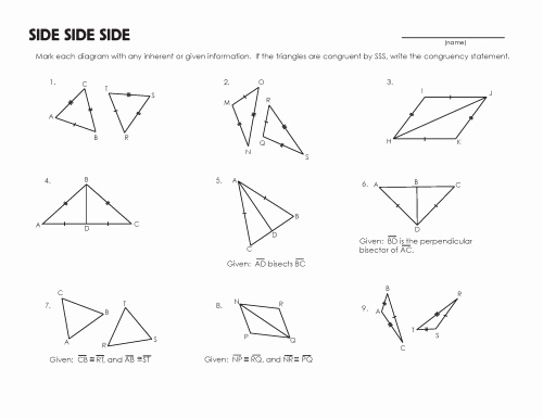 Triangle Congruence Worksheet Pdf Inspirational Congruent Triangles Worksheet