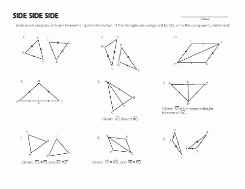 Triangle Congruence Worksheet Pdf Inspirational Congruent Triangles Worksheet