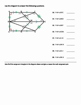 Triangle Congruence Worksheet Pdf New Triangle Congruence Worksheet Practice Problems by Dr