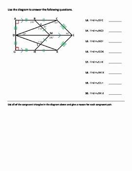 Triangle Congruence Worksheet Pdf New Triangle Congruence Worksheet Practice Problems by Dr