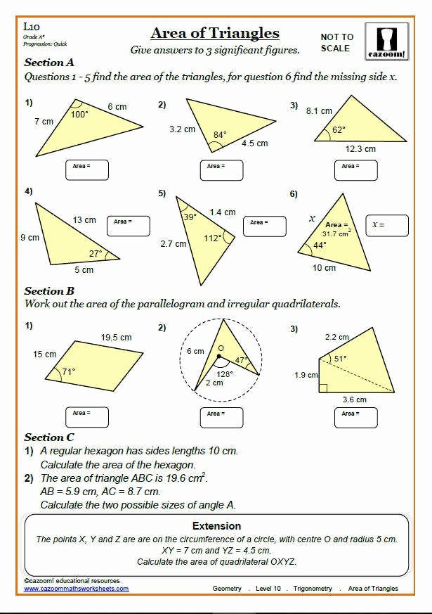 Triangle Inequality theorem Worksheet Awesome area Triangles Worksheet
