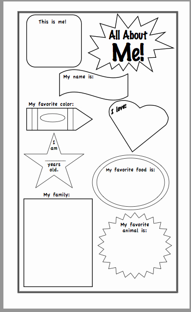 Triangle Inequality theorem Worksheet Lovely All About Me Worksheet Kindergarten the Best Worksheets