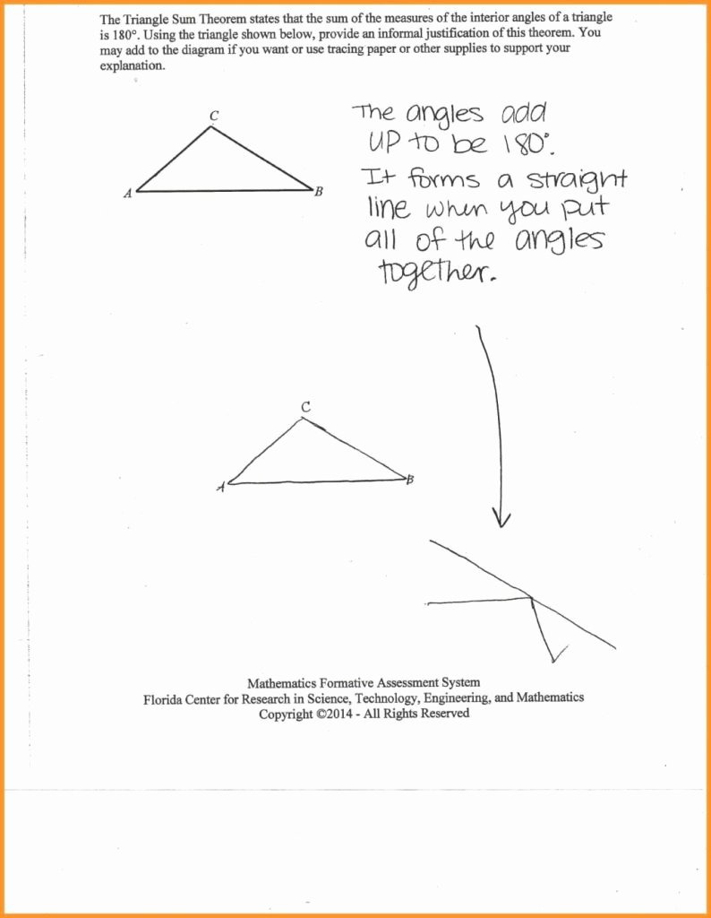 Triangle Interior Angles Worksheet Answers Awesome Simple Triangle Interior Angle Worksheet Answers