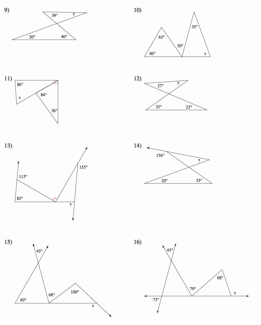 Triangle Interior Angles Worksheet Answers Best Of Geometry Mrs Murk S Math Class