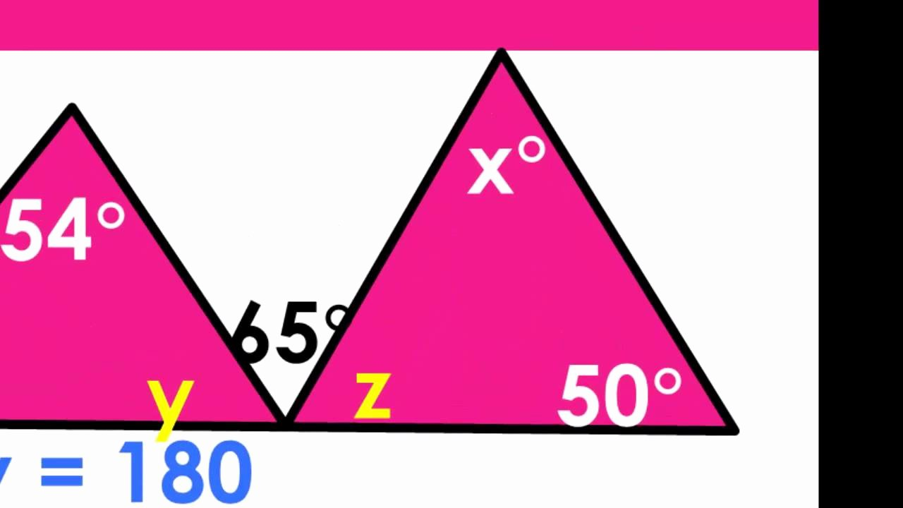 Triangle Interior Angles Worksheet Answers Elegant Sum Of Interior Angles Of Triangle and Exterior Angle