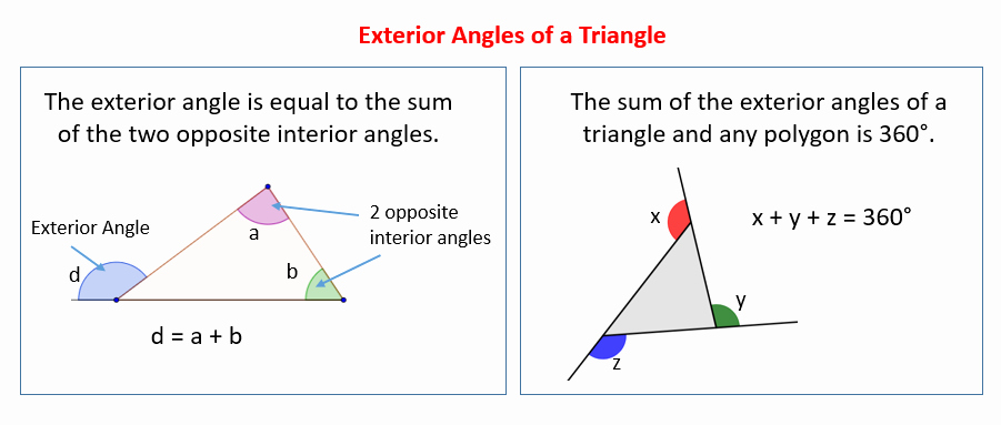 Triangle Interior Angles Worksheet Answers Fresh Exterior Angles Of A Triangle solutions Examples Videos