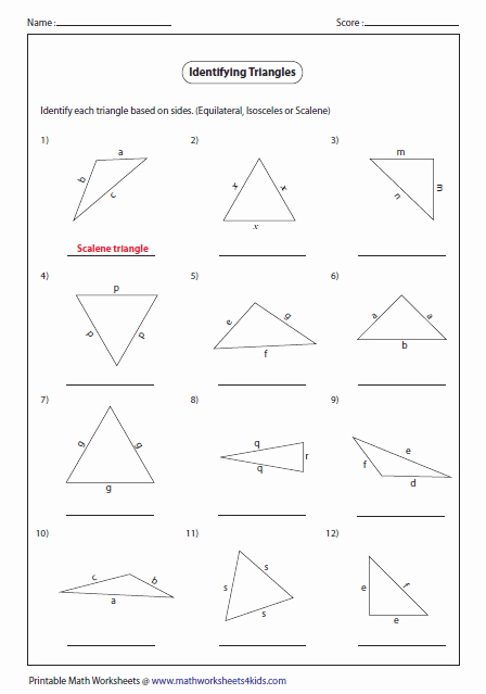 Triangle Interior Angles Worksheet Answers Inspirational Triangles Worksheets