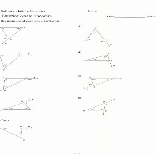 Triangle Interior Angles Worksheet Answers Luxury Triangle Interior Angles Worksheet Answer Key